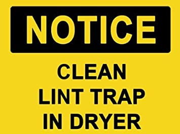 Sticker decal notice clean lint trap in dryer sign sticker sticker decal notice clean lint trap in dryer sign sticker 152mmx114mm publicscrutiny Choice Image