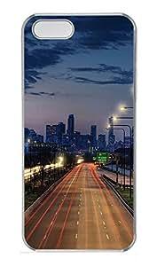 iPhone 5 5S Case Landscapes Cityscape PC Custom iPhone 5 5S Case Cover Transparent