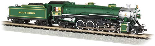 8 Steam 4 4 Locomotives - 4-8-2 Light Mountain Dcc Sound Value Equiped Steam Locomotive Southern #1489 (Green) - N Scale