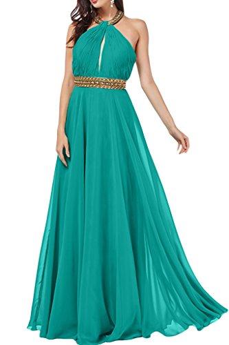della Holder chiffon Dress abito Verde sera ressing da Neck ivyd Party A Donna con Prom pietre linea Abito in 7wY6wxtZ