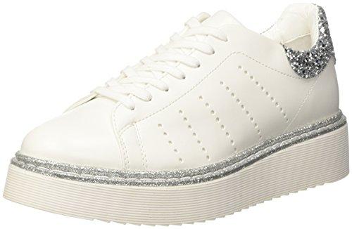 Cult Eagles Low 1450, Zapatillas de Estar por Casa para Mujer Multicolore (White/Silver)