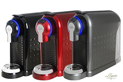 Legato Single Serve (Nespresso Compatible) Coffee / Tea / Espresso Machine (Metallic Charcoal) 30 FREE CAPSULES INCLUDED IN BOX