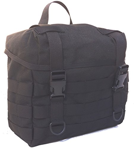 Black Butt Nylon Pack - Fire Force Military MOLLE Field Butt Pack Made in USA (Black)