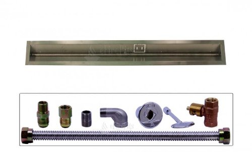 Check Out This Spotix Linear HPC Match Lit Fire Pit T-Burner Kit, 48-Inch Burner, 48-Inch Trough, Na...