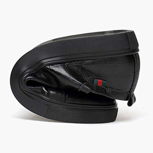 ZXCV Zapatos al aire libre Zapatillas de cuero para hombre Black B