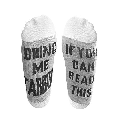 ORYCOOL If You Can Read This Funny Saying Combed Cotton Crew Socks Gift for Men Women