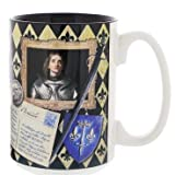 Saint Joan of Arc Story Ceramic Coffee Mug 15 oz Cobalt Blue Interior