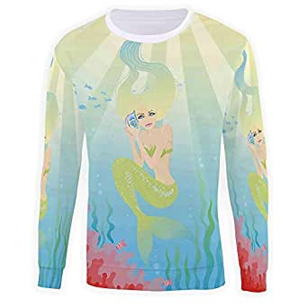 Amazon.com: Men's Mermaid Sweatshirt Pullover: Clothing