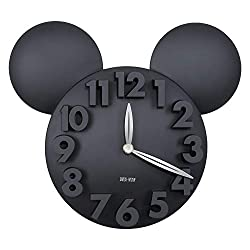 Sanch Ancha Kids Quartz Mickey Minne Mouse Cartoon Wall Clock 12-1/2 inch, Large 3D Digital Numbers Modern Battery Operated Kit Home Decorations for Bedroom, Living Room, Office, Kitchen