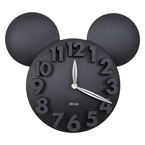 Disney Wall Clocks - Sanch Ancha Kids Quartz Mickey Minne Mouse Cartoon Wall Clock 12-1/2 inch, Large 3D Digital Numbers Modern Battery Operated Kit Home Decorations for Bedroom, Living Room, Office, Kitchen
