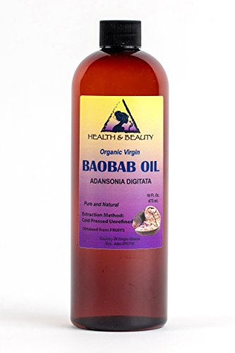 Baobab Oil Unrefined Organic Extra Virgin Cold Pressed by H&B OILS CENTER Prime Fresh Pure 16 -