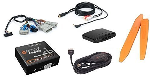 Bluetooth streaming audio music kit plus aux input cable and dash tools for select 2003+ GM radios (Bundle: 3 items)