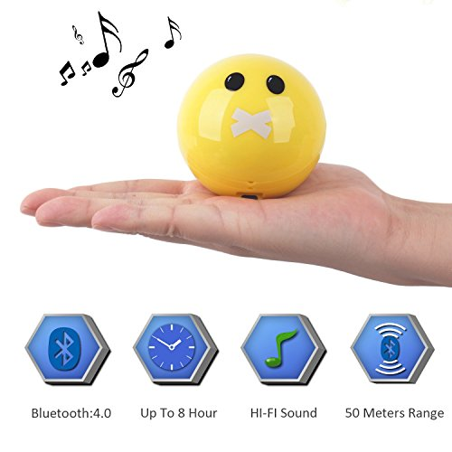 Best Portable Bluetooth Speaker Hifi Sound Builit in Mic for Handsfree Calling 4.0 Bluetooth Works 60 Feet Support Micro SD Card 8 Hrs Playtime(Zippermouth)
