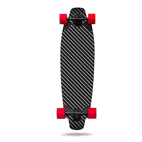 MightySkins Skin Compatible with Inboard M1 Electric Skateboard - Carbon Fiber | Protective, Durable, and Unique Vinyl Decal wrap Cover | Easy to Apply, Remove, and Change Styles | Made in The USA