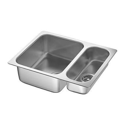 Ikea 1 1/2 Bowl Dual Mount Sink, Stainless Steel 20204.14223.218