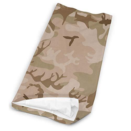 Modern Tan Green Desert Military Camo Camouflage Unisex Microfiber Face Mask Headband Bandana Head Wrap Scarf Neck… 4