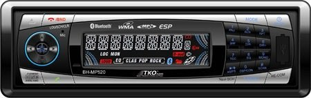 TKO BHMP520 Brand New Mobile AMFM/CD/MP3/USB/SD Port