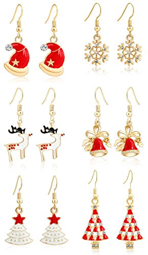 [M-Tree Girl's Christmas Dangle Earrings - Womens Fashion Cute Stainless Steel Ear Rings] (Unique Costume Ideas For Teenage Girls)