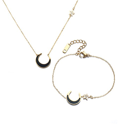 Gold Crescent Moon Charm - 5