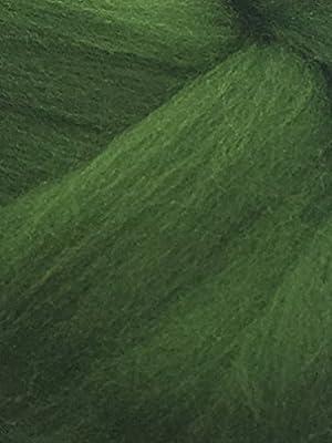 Abeto verde lana (Merino, cable de Spinning, fieltro manualidades ...