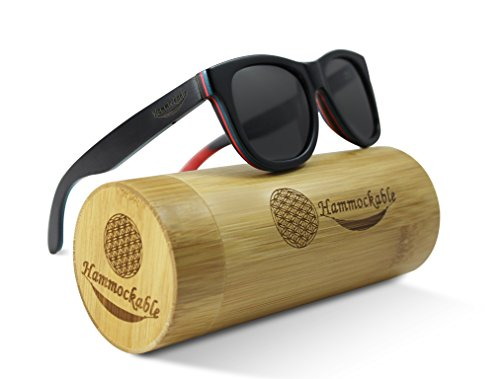 e9e6313bc51 Hammockable Handmade Natural Wood Polarized Sunglasses that Float! (Black  Maple - Plain
