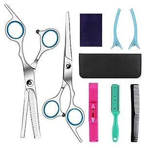 Hairdressing Scissors Kits Stainless Steel Hair Cutting Shears Set Thinning/Texturizing Scissors Bang Hair Scissor Professional Barber/Salon/Home Shear Kit For Men Women Pet from Robin-US