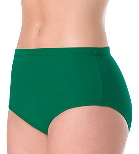 Bodywrappers Girls' Athletic Brief, Gold, 7-10 (Boy Briefs Cheerleading Cut)