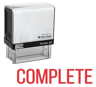 Complete Rubber - COMPLETE Office Self Inking Rubber Stamp - Red Ink (A-5237)