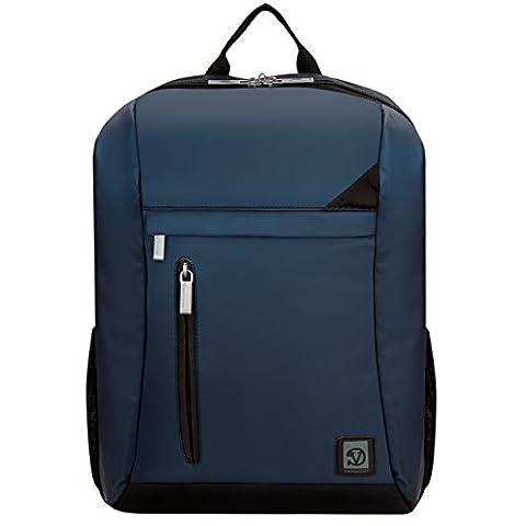 VanGoddy Navy Blue with Black Trim Laptop Backpack for MSI Prestige / GT Series (Msi Gt70 Gtx980)