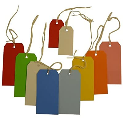 JAM Paper® Gift Tags with String - Small and medium - 10/pack