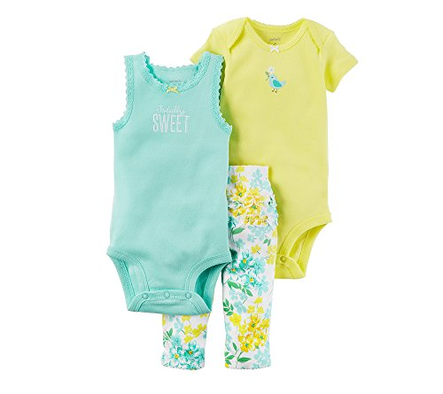 Carter's Baby Girls Take Me Away 3-Piece Little Character Set  -3 Months -Sleeveless Bird