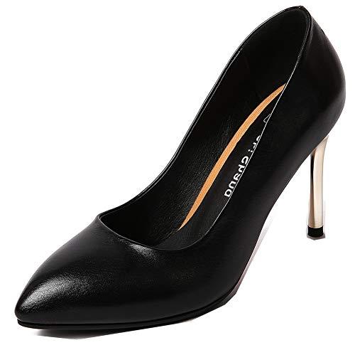 Talon Aiguille Femme ailles Pointue Style Noir Aisun Fian Escarpin Bouche Chic q1Ed1tw
