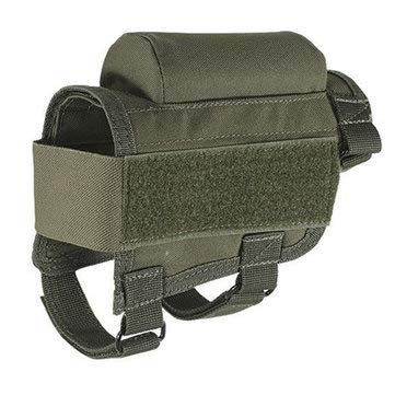 Tactical Gun Buttstock Ammo Cartridges Holder Hunting Bullet Carrier Holsters Pouch - Men's Bags Holder & Coin Bag - (Army Green) - 1 x Mini Baby Shoulder Bag