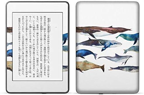 igsticker kindle paperwhite 第4世代 専用スキンシール キンドル ペーパーホワイト タブレット 電子書籍 裏表2枚セット カバー 保護 フィルム ステッカー 015836 魚 海 くじら シャチ