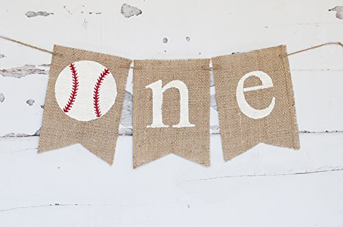 First Birthday Decoration, Baseball 1st Birthday Highchair Banner B281 (Statement Banner)