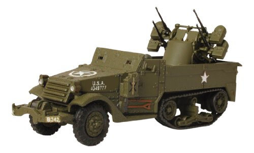 Forces of Valor D-Day Series U.S. M16 Multiple Gun Motor Carriage Normandy 1944 Vehicle, 1:72 Scale