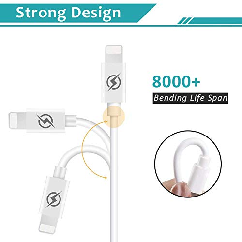 LUOSIKE iPhone Charger 10 ft Cable with Wall Plug 4 Pack Dual USB Wall Charger Block with 2X10 Foot Long Charging Cord Compatible with iPhone 11 11