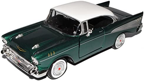 Chevrolet Bel Air Convertible 1957 mint grün Modellauto 1:18 Motormax