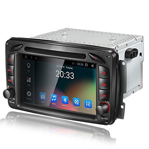EGOSONIC 7 Inch Double Din Car Stereo Radio Can Bus SWC Braking for Mercedes W168 W203 W209