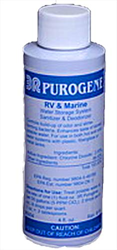 4oz Purogene Drinking Water Treatment and Water System Sanitizer. Eliminates Bacteria in Water, Sanitizes Water Storage Systems, Provides for Long-Term Storage of Drinking Water