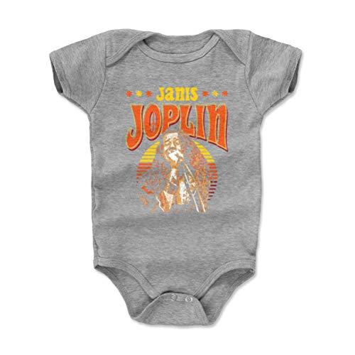 Janis Joplin Baby Clothes, Onesie, Creeper, Bodysuit - 3-6 Months Heather Gray - Classic Rock Music Legends - Janis Joplin Vibe - Onesie Cotton Classic