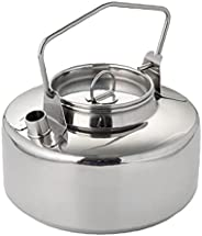 Camping Kettle Lightweight Portable 1L Stainless Steel Picnic Teapot Cookware Set Silver