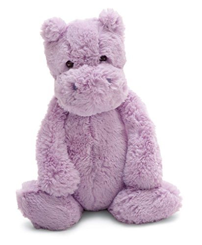 (Jellycat Bashful Lilac Hippo, Medium, 12 inches)