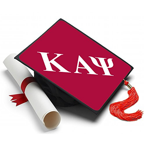- Kappa Alpha Psi Graduation Cap Hat Topper Decoration Fraternity 8.5 x 8.5 Inch NUPE Red