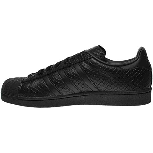 Adidas Kvinders Superstar S76147 Sort Læder Trænere 6 Os drbDI