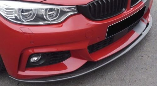 EuroActive Rieger BMW F32 F33 F36 4 Series Front Spoiler Lip for M Sport Front Bumper Carbon -