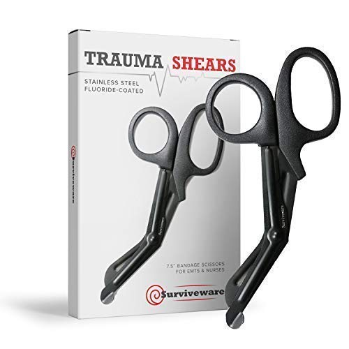 "Surviveware Trauma EMT Shears -7.5"" Bandage Scissors for EMS, Medical Personnel, Military, Nurses and Home"