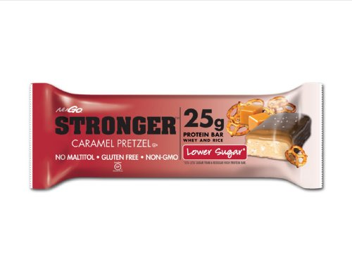 NuGo Stronger Caramel Pretzel, 2.82 Ounce (pack Of 12)