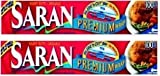 Saran Premium Plastic Wrap, 100 Sq Ft 2 Pack