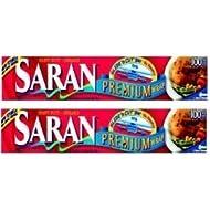 Saran Premium Plastic Wrap, 100 Sq Ft 2 Pack